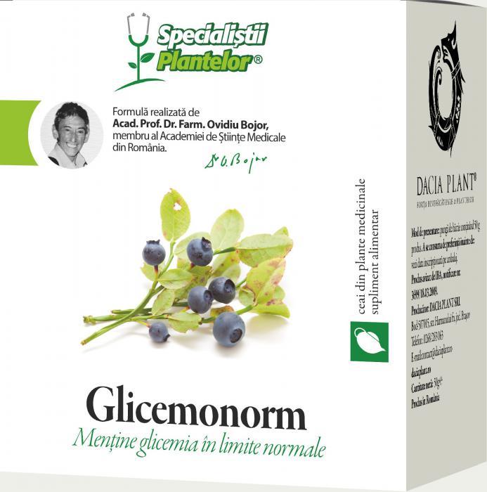 Glicemonorm Ceai 50 g Dacia Plant