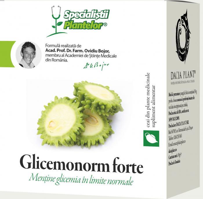 Glicemonorm Forte Ceai 50 g Dacia Plant