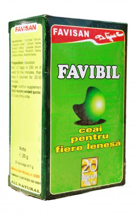 Favibil Ceai Fiere Lenesa 20 doze Favisan