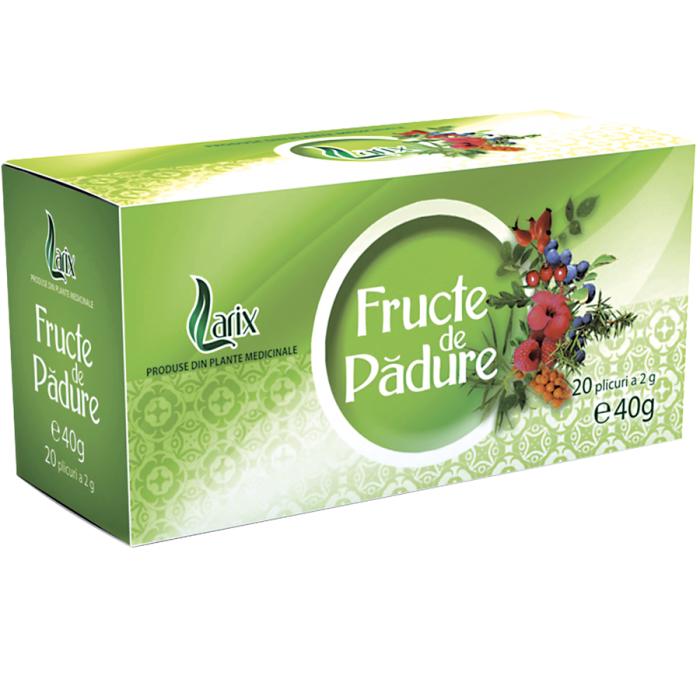 Ceai Fructe De Padure 20 plicuri cu snur Larix