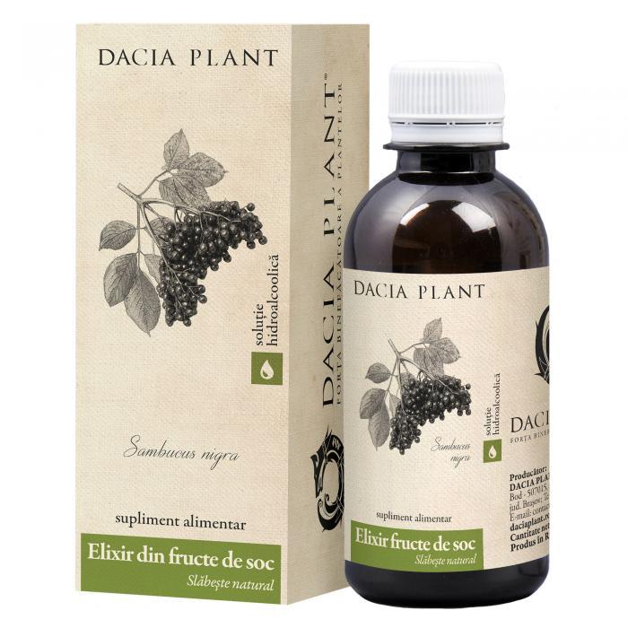 Tinctura Elixir din Fructe de Soc 200 ml Dacia Plant