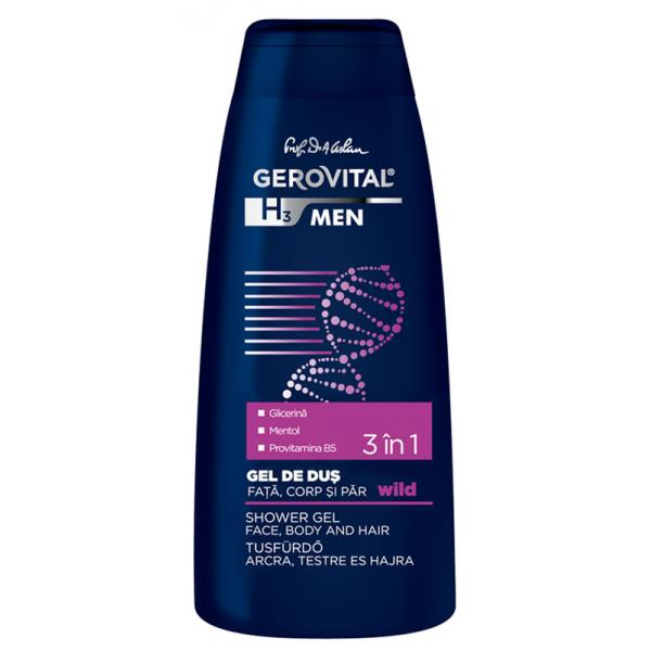 Gerovital H3 Men Gel de Dus Wild 400 ml Farmec