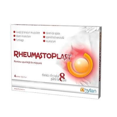 Hyllan Rheumastoplast Hot x 8 plasturi - Hyllan Pharma
