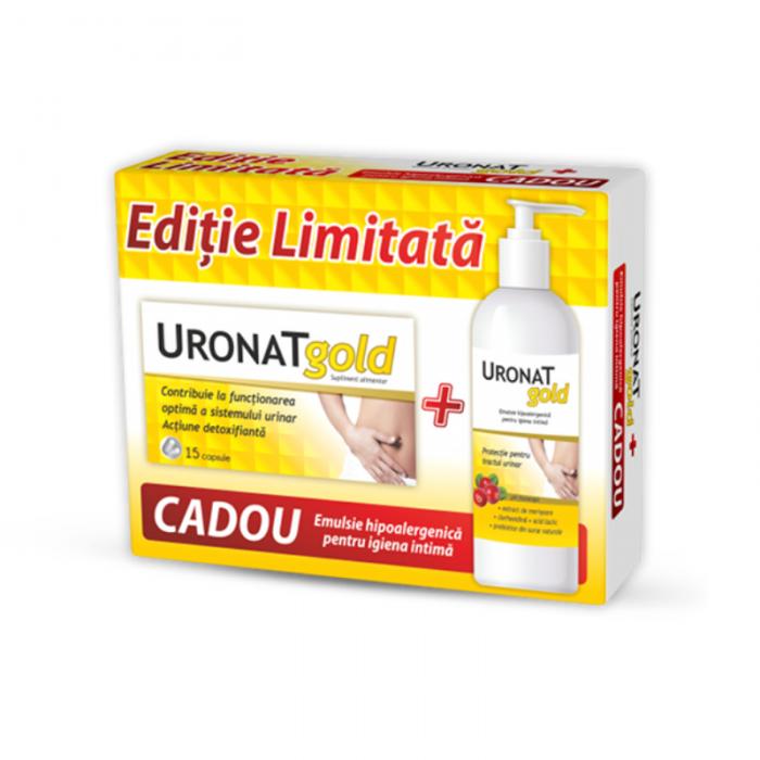 Uronat Gold 15 cps + Emulsie Igiena Intima x 400 ml - Zdrovit