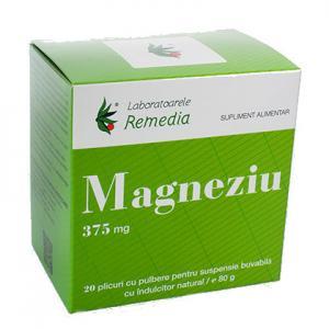 Magneziu 375 Mg 20 plicuri Remedia