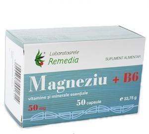 Magneziu 50 Mg + B6 50 cps Remedia