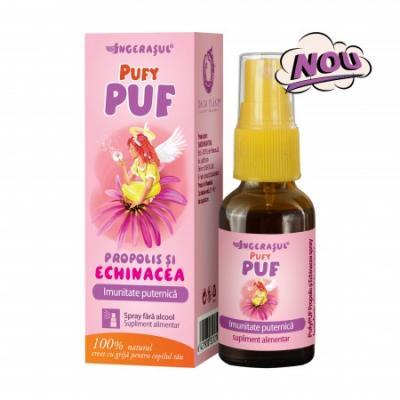 Ingerasul Pufy Puf Propolis si Echinacea Spray 20 ml Dacia Plant