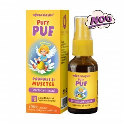 Ingerasul Pufy Puf Propolis si Musetel Spray 20 ml Dacia Plant
