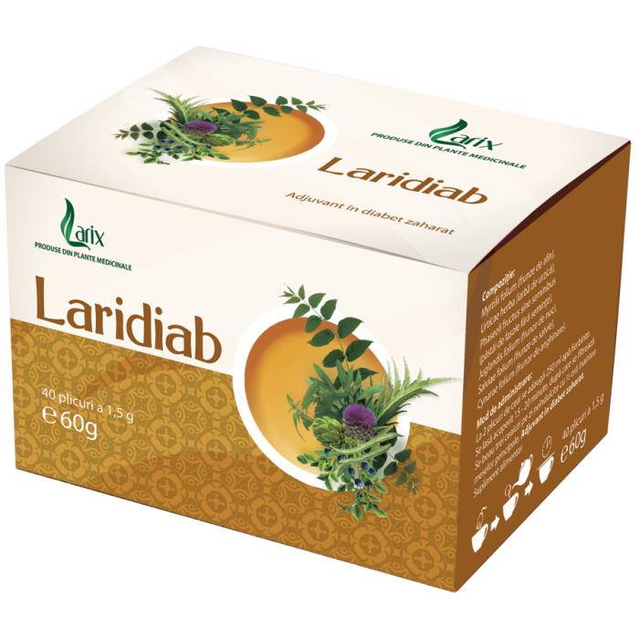 Ceai Laridiab Antidiabetic 40 plicuri Larix