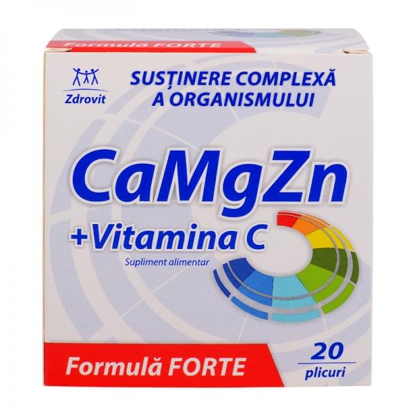 Fabelhaft Calciu + Magneziu + Zinc + Vitamina C Forte 60 + 20%Cadou plicuri &NY_19
